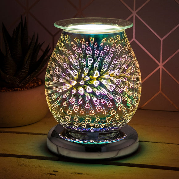 DUE JUNE Touch Sensitive Round Aroma Lamp With Hearts