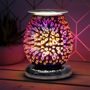 DUE FEB Touch Sensitive Round Aroma Lamp - Purple Hearts