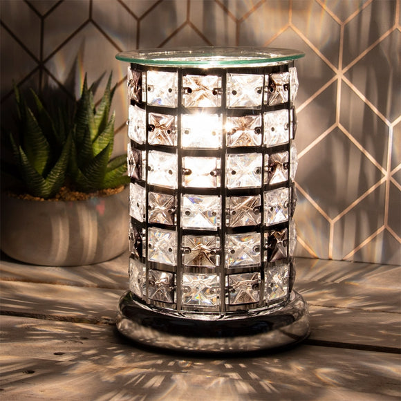 Crystal Touch Sensitive Aroma Lamp - Chequered Black
