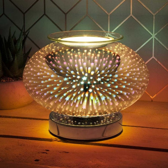 DUE APRIL Touch Sensitive Wide Glass Aroma Lamp - Starburst