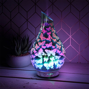 DUE JUNE Desire Aroma Humidifier Diffuser - Butterflies 26cm
