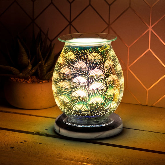 DUE NOVEMBER Touch Sensitive Round Aroma Lamp - Rainbow