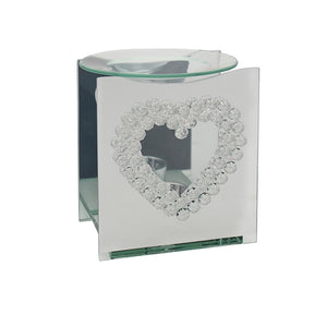 DUE JAN Mirror Crystal Oil Burner Heart
