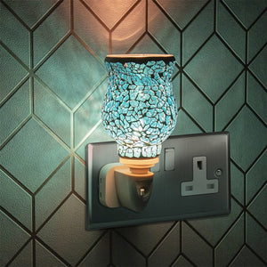 DUE DECEMBER 15W Plug-In Glass Mosaic Warmer - Teal
