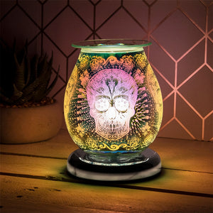 DUE END NOVEMBER Round Touch Sensitive Aroma Lamp - Candy Skull