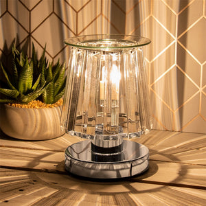 DUE END DECEMBER Touch Sensitive Elegance Aroma Lampshade - Silver & Clear