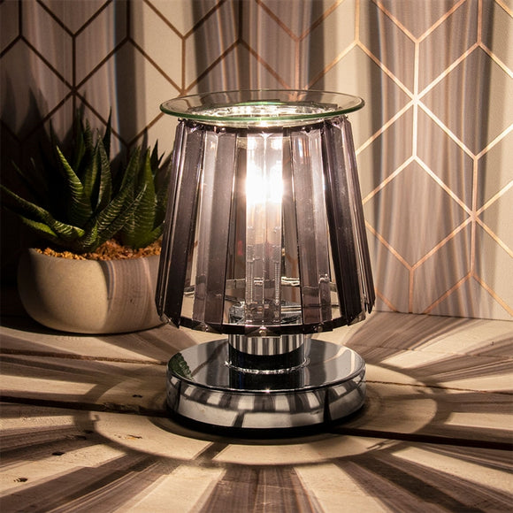 Touch Sensitive Elegance Aroma Lampshade - Silver & Black