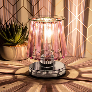 DUE END DECEMBER Touch Sensitive Elegance Aroma Lampshade - Silver & Pink
