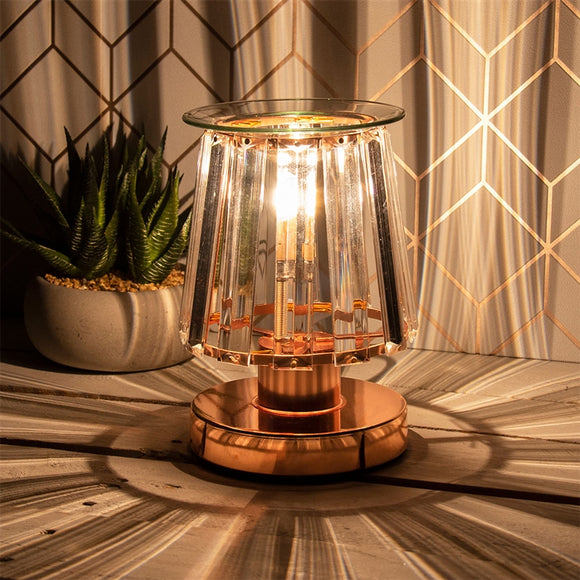 Touch Sensitive Elegance Aroma Lampshade - Rosegold & Clear