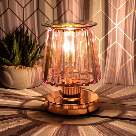 DUE FEBRUARY Touch Sensitive Elegance Aroma Lampshade - Rosegold & Pink