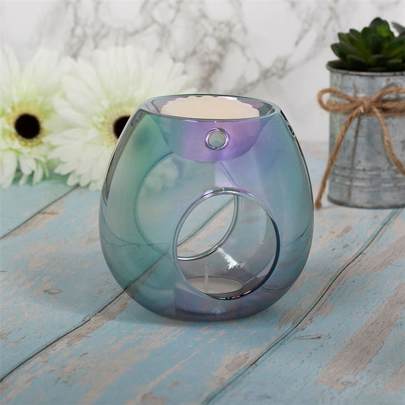 Luxury Glass Wax Melter - Blue Lustre