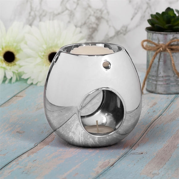 Luxury Glass Wax Melter - Silver