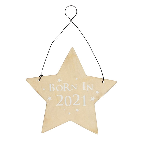 Born In 2021 Hanging Sign