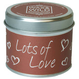 Sentiments Candle in Tin - Lots of Love