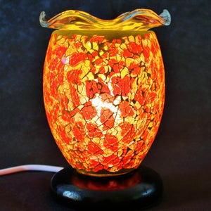 Dimmable Mosaic Electric Melt Burner 15cm - Poppy