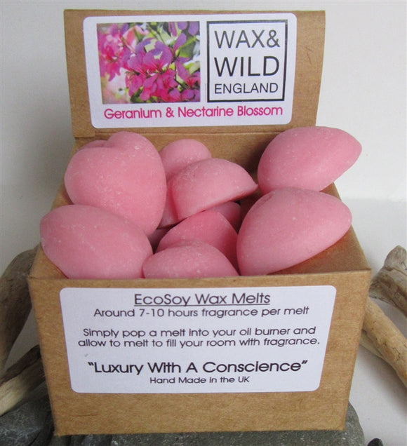 Box of 20 Soy Wax Melts - Geranium & Nectarine Blossom