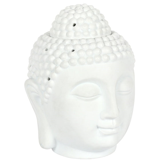 Large White Buddha Head Oil Burner 20cm