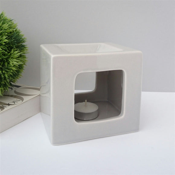 NEXT DUE MAY Cubic Ceramic Wax Melter - Grey