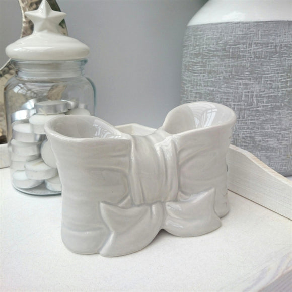 NEXT DUE FEBRUARY Bow Double Ceramic Wax Melter - Grey