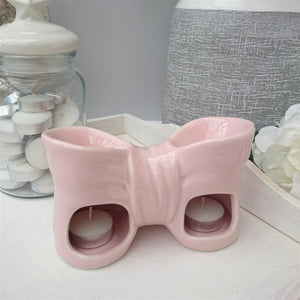 Bow Double Ceramic Wax Melter - Pink