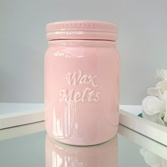 Ceramic Wax Melts Storage Jar - Pink