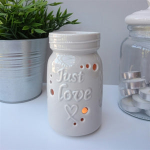 NEXT DUE FEBRUARY Just Love Ceramic Wax Melter - Grey