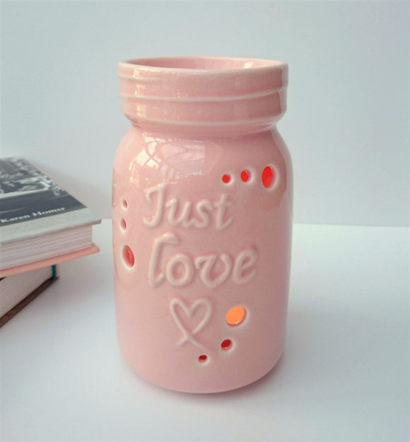 DUE END NOVEMBER Just Love Ceramic Wax Melter - Pink