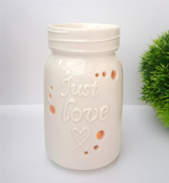 NEXT DUE FEBRUARY Just Love Ceramic Wax Melter - White