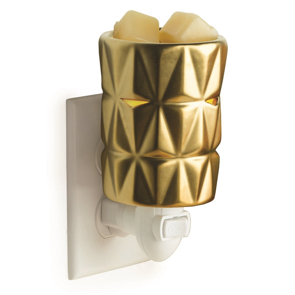 DUE DECEMBER 15W Plug-In Ceramic Warmer - Gold Facets