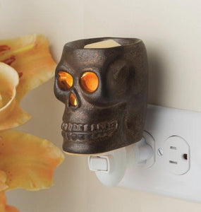 15W Plug-In Ceramic Skull Warmer