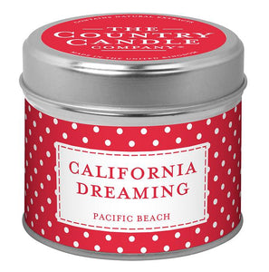 Polka Dot Candle in Tin - California Dreaming