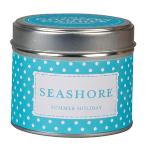 Polka Dot Candle in Tin - Seashore