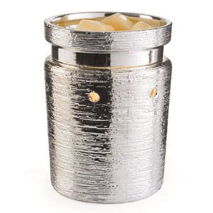 Brushed Chrome Ceramic Electric Wax Melter