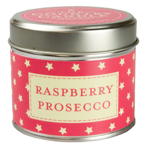Raspberry Prosecco Candle in Stars Tin