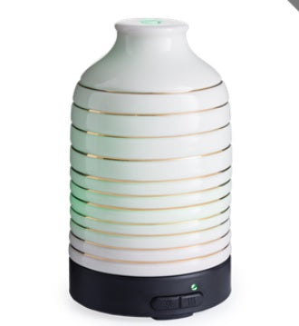 DUE AUGUST Colour Changing Ceramic Aromatherapy Humidifier - Serenity