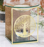 DUE JANUARY Gold Tree Of Life Glass Wax Melter / Oil Burner