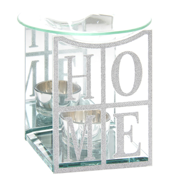 Silver Glitter HOME Wax Melter / Oil Burner