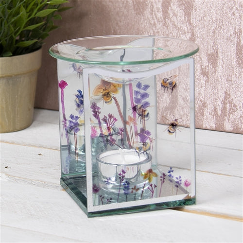 DUE END JANUARY Bee & Wildflower Glass Wax Melter / Oil Burner