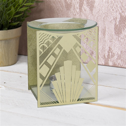 SPECIAL OFFER Gold Gatsby Glass Wax Melter / Oil Burner