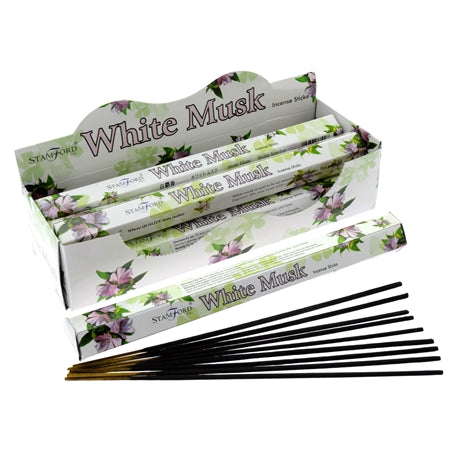 Stamford White Musk Incense Sticks x6 Tubes