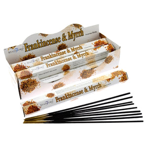 Stamford Frankincense and Myrrh Incense Sticks x6 Tubes