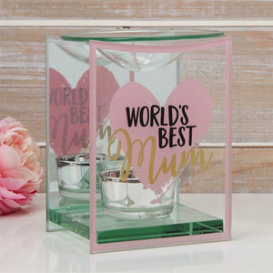 Best Mum Glass Wax Melt / Oil Burner 12cm