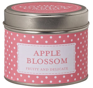Polka Dot Candle in Tin - Apple Blossom