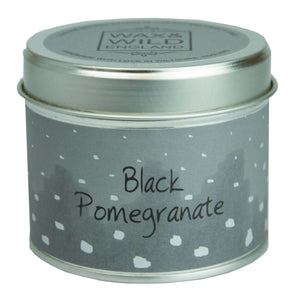 Wax & Wild Candle in Tin - Black Pomegranate