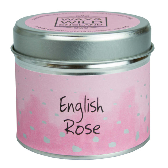 Wax & Wild Candle in Tin - English Rose