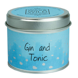 Wax & Wild Candle in Tin - Gin & Tonic