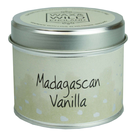 Wax & Wild Candle in Tin - Madagascan Vanilla