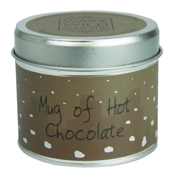 Wax & Wild Candle in Tin - Mug of Hot Chocolate
