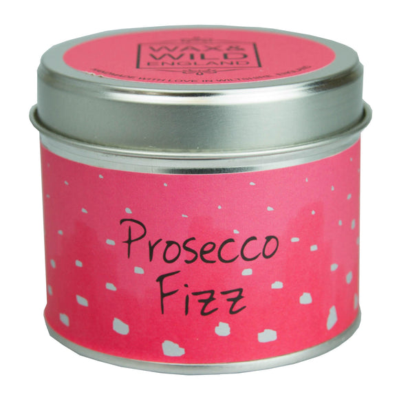 Wax & Wild Candle in Tin - Prosecco Fizz