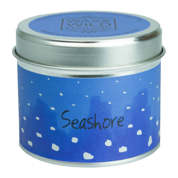 Wax & Wild Candle in Tin - Seashore